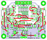 PCB - top view