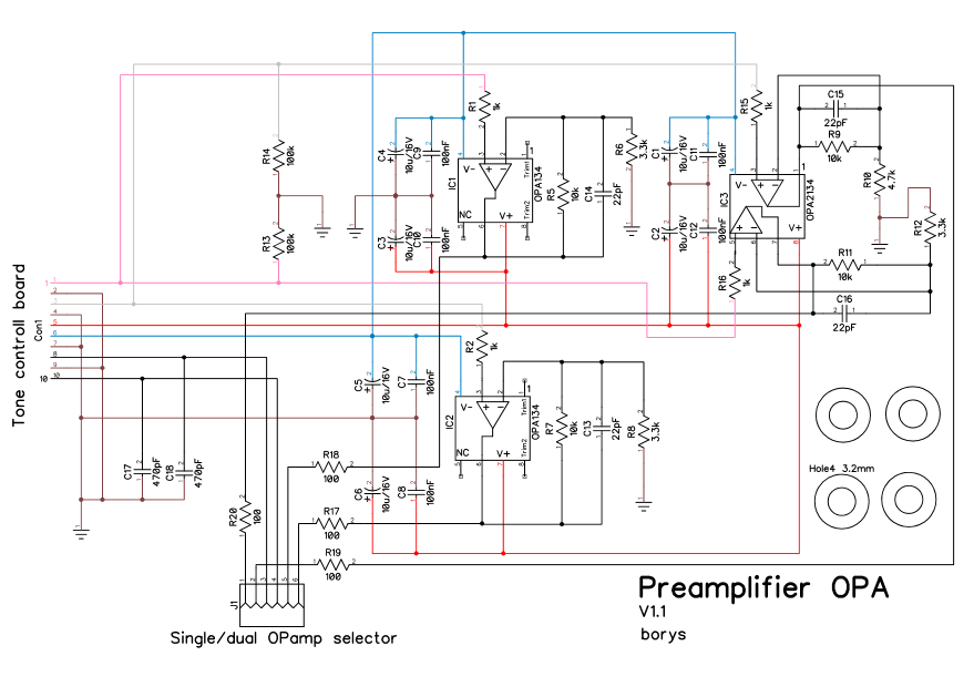 Preamp OPA - iAMP - DIY way to build Your own amplifier
